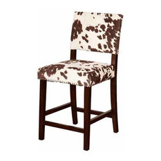 """Linon Corey 24"""" Counter Stool in Udder Madness Brown"""
