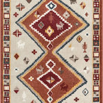 """Well Woven - Moroccan Medallion Area Rug Red, 7'10"""" X 9'10"""" - This rug features chunky, textured yarn and a contemporary, Moroccan medallion design. Warm, neutral tones and subdued colors of red, blue, and yellow complete a design that is soft, stylish, and affordable. The stain and fade resistant materials are easy to clean, meaning less hassle and a rug that looks better for longer. The jute backing is wood floor safe and the edges are serged for increased durability, so it can be placed in any room."""