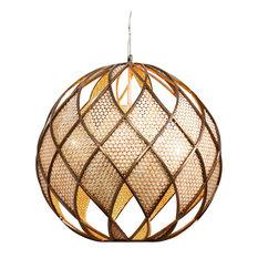 Varaluz - Argyle 4-Light Pendant, New Bronze With Desert Pearl - Pendant Lighting