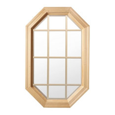 Tall Cabin Light 4 Season Wood Window With Grille, Clear Insulated Glass