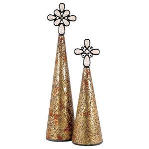 Beaded Golden ANGEL Figurine HOLIDAY DECOR Christmas Tree Topper 10015359
