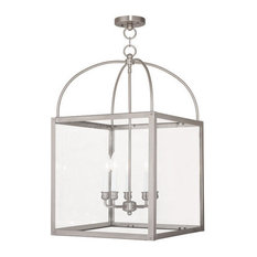Outdoor Hanging Lighting Shop top rated outdoor hanging lights houzz livex lighting inc livex lighting 4038 91 milford outdoor hanging light in brushed workwithnaturefo