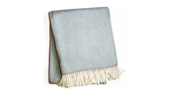 Herringbone Throw, Sky