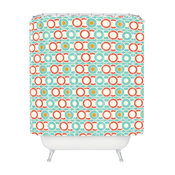 Heather Dutton Ring A Ding Shower Curtain