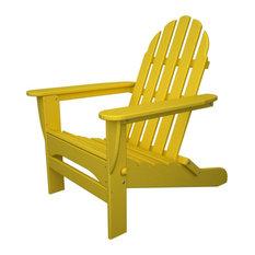 Polywood Classic Folding Adirondack, Lemon
