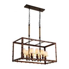 best rectangular wood chandeliers houzz. Black Bedroom Furniture Sets. Home Design Ideas