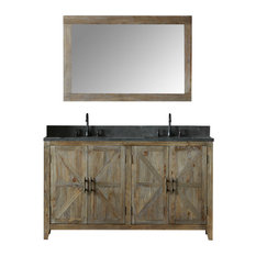 Mary Elm Vanity With Faucet and Mirror, 60""