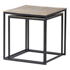 DOVETAIL MOLDORA Nesting Tables Black Antique Brass Cast Aluminum