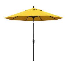 9' Aluminum Umbrella Push Tilt, Black, Olefin, Lemon