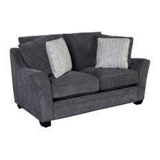 Hawthorne Collections Ryland Upholstered Loveseat - Gray