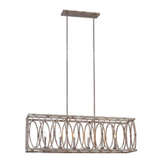 Murray Feiss Patrice Six Light Linear Chandelier F3224/6DA