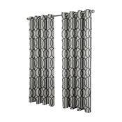 Trincity Grommet Top Window Curtain Panels, Steel Blue, Set of 2/Pair Panels