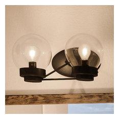 Luxury Contemporary Bath Vanity Light, Black, Aberdeen Series, Midnight Black