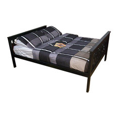 Full Size Mission Style Bed, Black Paint