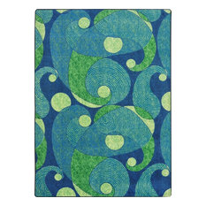 """Kid Essentials Rug, Jazzy, Blue and Teal, 5'4""""x7'8"""""""