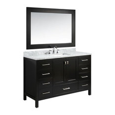"London 54"" Single Sink Vanity Set, Espresso Finish"