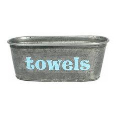 A Southern Bucket   Towels Galvanized Tub   Bathroom Organizers
