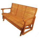 Sittin' Easy - 5' Medium Back Glider Bench - This medium back glider bench offers sturdy, dependable, firm and secure seating. Fits two adults and a small child or has plenty of room for laying down for that lazy afternoon nap.