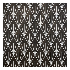 "Eclipse Ray 8"" Hex Porcelain Matte Tile Collection, Black"