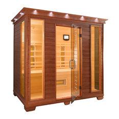 Premium Infrared Health Sauna, Aspen Wood, 4-Person
