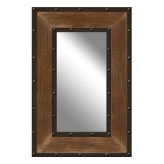 ptm images hemlock metal and wood mirror wall mirrors