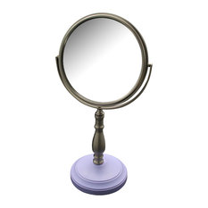 Lavender Purple Base and Nana Pedestal Bathroom Makeup Mirror