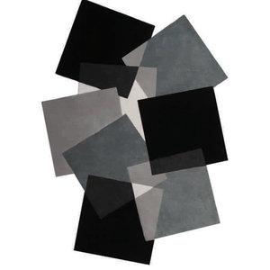 Pebbles Squares Rug, Black And White, 240x170 cm