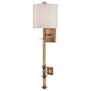 Devon 1 Light Sconce, Warm Brass