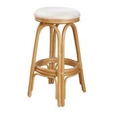 Carmen Indoor Swivel Rattan & Wicker 30-inch Barstool - I Need 2 Dollars