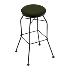 3020 25-inch Swivel Counter Stool With Black Wrinkle And Canter Pine Seat