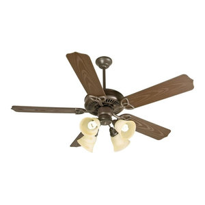 Hayes Downrod Mount Indoor Ceiling Fan With Light Kit And