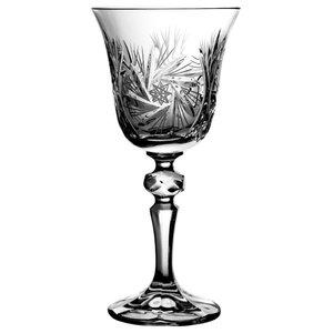 Laura Pinwheel Wine Glasses, Set of 6
