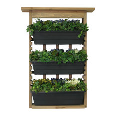Algreen Products - Algreen Garden View, Vertical Living Wall Planter - Outdoor Pots and Planters