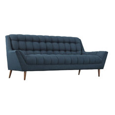 LONG BAY UPHOLSTERED FABRIC SOFA/AZURE