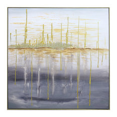 """""""City by the Bay"""" Authorized Reproduction Hand Painted Canvas Wall Art"""