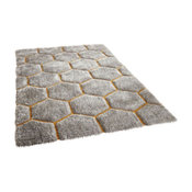 Noble House 30782 Rug, Grey and Yellow, 150x230 cm