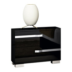 Volare Black 2-Drawer Nightstand