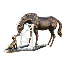 Barnyard Pals Garden Sculpture, Horse and Dog