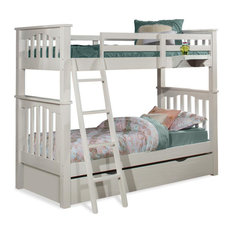 Highlands Haper Twin/Twin Bunk Bed, White Finish