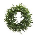Eucalyptus Double Ring Wreath With Twig Base