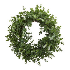 Eucalyptus Double Ring Wreath With Twig Base