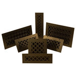 Steel Crest - Steel Crest Basic Series Tuscan Oil Rubbed Bronze Wall/Ceiling Return Air Grille - Replace your existing return air grilles with one of these decorative tuscan style return air grilles manufactured by Steel Crest. They use an 18 gauge steel with an oil rubbed bronze powder coat finish, making it less likely to scratch than painted finishes. Install into your wall or ceiling using the matching screws. These grilles recess into the hole opening in your wall or ceiling approximately 3/4 inch. Made in the United States.