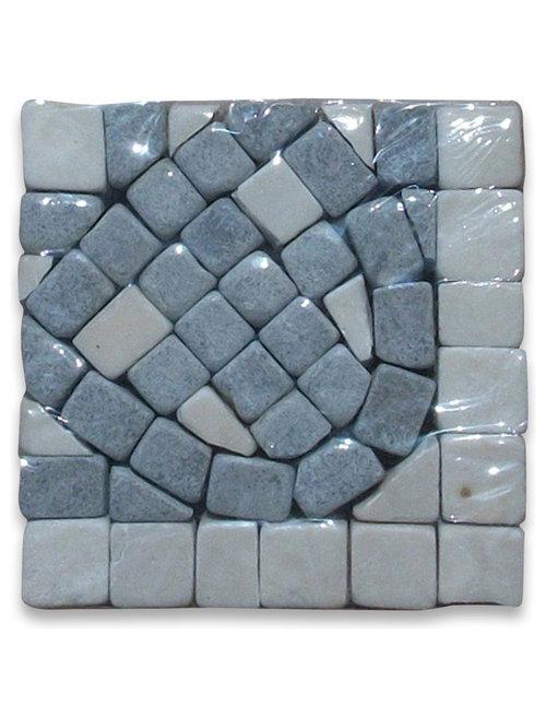 stone center online quadra sienna 225x225 marble mosaic border corner tumbled
