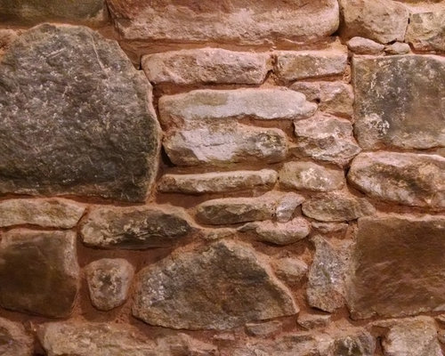 1890 basement rock foundation wall repointed
