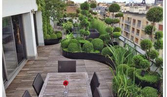 Terrasse parisienne [aménagement, choix des végétaux, éclairage, arrosage auto]
