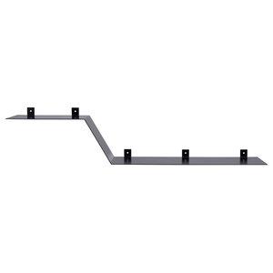 Two-Level Steel Wall Shelf, Black