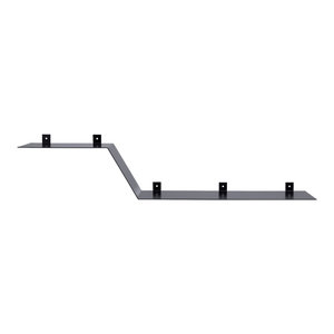 Two-Level Steel Wall Shelf, Black