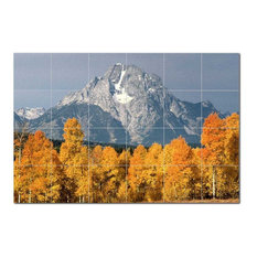 Mountain Photo Ceramic Tile Mural Kitchen Backsplash Bathroom Shower, 405524-XL6
