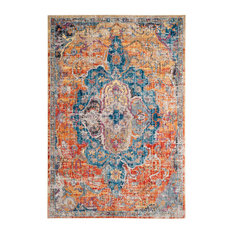 Safavieh Bristol Woven Rug, Blue/Orange, 9'x12'