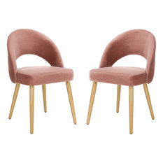 Giani Retro Dining Chair (Set of 2) - Dusty Rose Gold by Safavieh